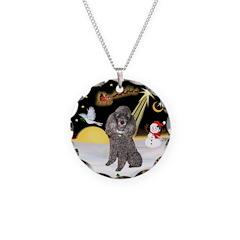 Night Flight/Silver Poodle Necklace