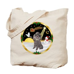 Night Flight/Silver Poodle Tote Bag