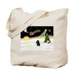 Night Flight/Poodle (min) Tote Bag
