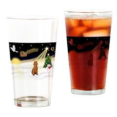 Night Flight/Apricot Poodle ( Drinking Glass