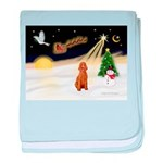 Night Flight/Apricot Poodle ( baby blanket