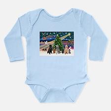 XmasMagic-6 Poodles Long Sleeve Infant Bodysuit