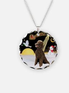 Night Flight/Poodle Std(choc) Necklace