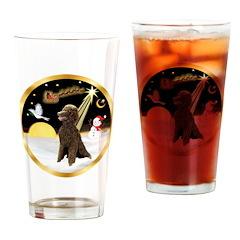 Night Flight/Poodle Std(choc) Drinking Glass