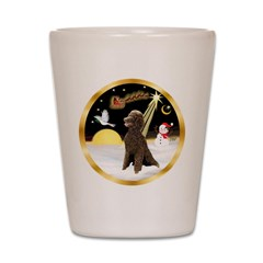 Night Flight/Poodle Std(choc) Shot Glass