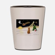 Night Flight/Std Poodle (blk) Shot Glass