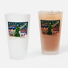 Xmas Magic & Poodle Drinking Glass