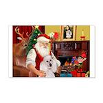 Santa's Std Poodle(w) 22x14 Wall Peel