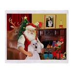 Santa's Std Poodle(w) Throw Blanket
