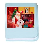 Santa's Std Poodle(w) baby blanket