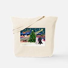 XmasMagic/2 Poodles (st) Tote Bag