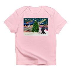 XmasMagic/2 Poodles (st) Infant T-Shirt