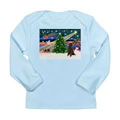 XmasMagic/Poodle (ST-ch) Long Sleeve Infant T-Shir
