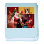 Santa's Poodle (ST-B4) baby blanket