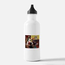 Santa's Poodle (ST-B4) Water Bottle