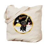 Night Flight/Pug (blk)#13 Tote Bag