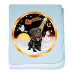 Night Flight/Pug (blk)#13 baby blanket