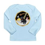 Night Flight/Pug (black) Long Sleeve Infant T-Shir