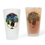 Xmas Musc 3/Cavalier Drinking Glass