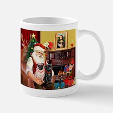 Santa's Two Pugs (P1) Mug