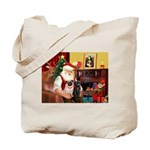 Santa's Two Pugs (P1) Tote Bag
