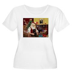 Santa's Black Pug T-Shirt