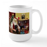 Santa's Black Pug Large Mug