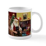 Santa's Black Pug Mug