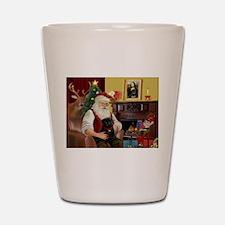 Santa's Black Pug Shot Glass