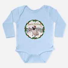 XmasMusic1MC/Pug 11 Long Sleeve Infant Bodysuit