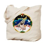 XmasSunrise/Pug Tote Bag