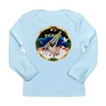 XmasSunrise/Pug Long Sleeve Infant T-Shirt