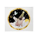 Night Flight/ Pug Throw Blanket
