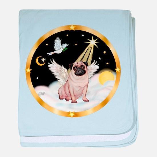 Night Flight/ Pug baby blanket