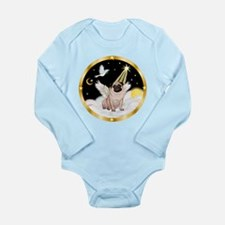 Night Flight/ Pug Long Sleeve Infant Bodysuit