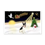 Night Flight/Rat Terrier 22x14 Wall Peel