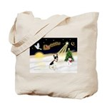 Night Flight/Rat Terrier Tote Bag