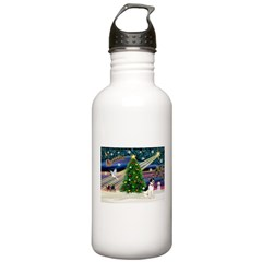 XmasMagic/Rat Terrier Water Bottle