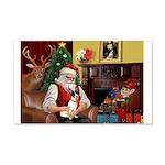 Santa's Rat Terrier 22x14 Wall Peel