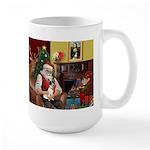 Santa's Rat Terrier Large Mug