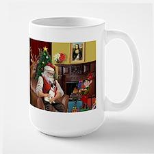 Santa's Rat Terrier Mug