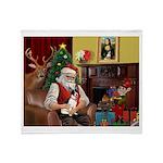 Santa's Rat Terrier Throw Blanket