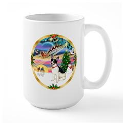 XmasMagic/Rat Terrier Large Mug