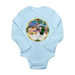 XmasMagic/Rat Terrier Long Sleeve Infant Bodysuit