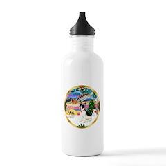 XmasMagic/Rat Terrier Water Bottle