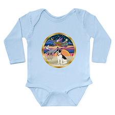 XmasStar/Rat Terrier Long Sleeve Infant Bodysuit