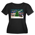 XmasMagic/2 Rotties Women's Plus Size Scoop Neck D