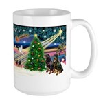 XmasMagic/2 Rotties Large Mug