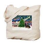 XmasMagic/2 Rotties Tote Bag