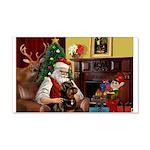 Santa's Rottweiler 22x14 Wall Peel